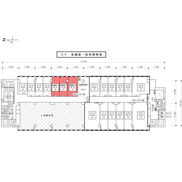 会議室3平面図