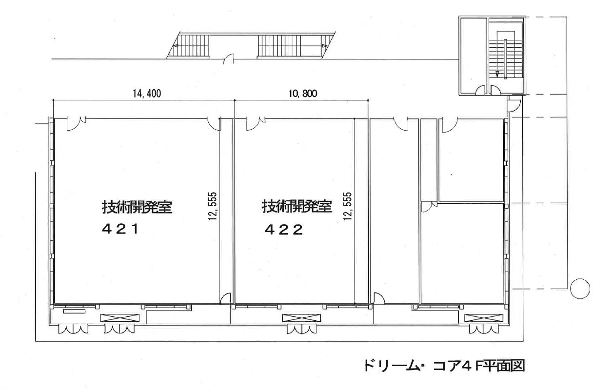 ドリームコア4階平面図