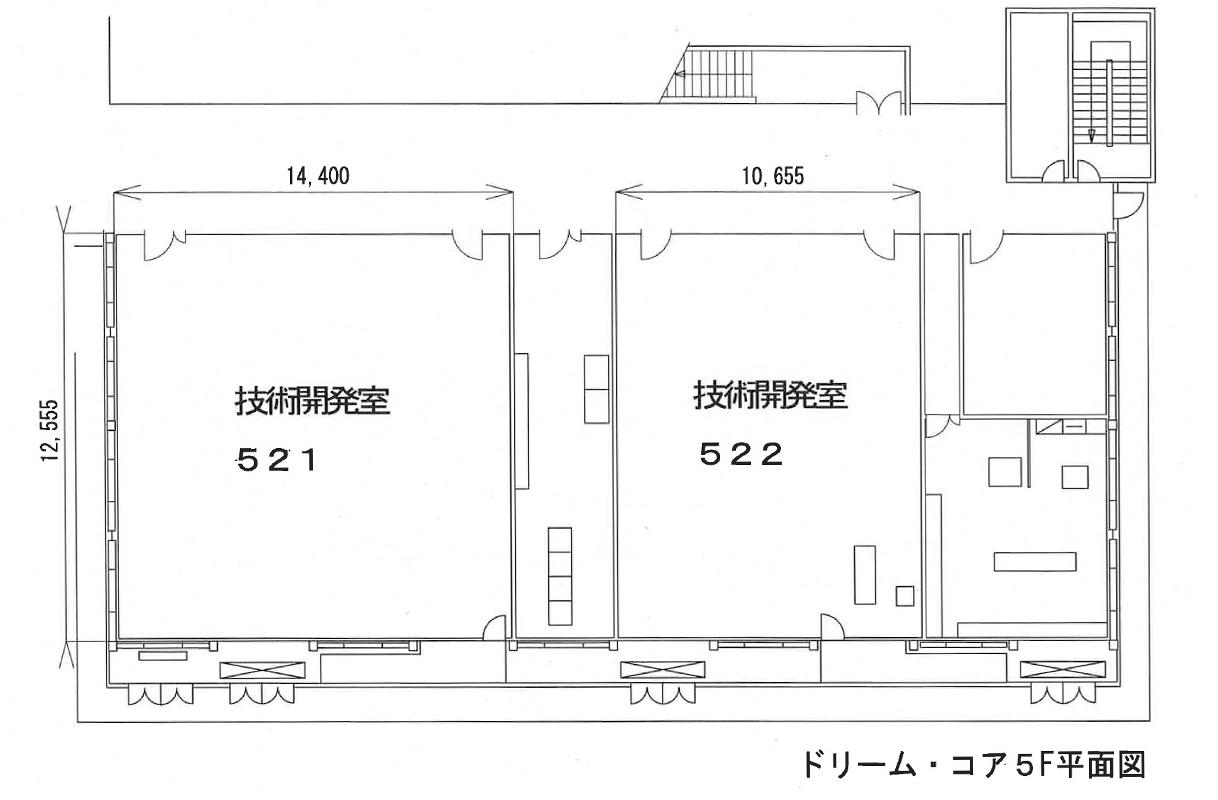 ドリームコア5階平面図